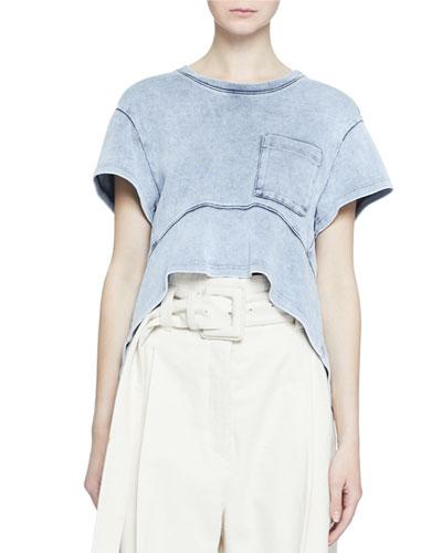 Short-Sleeve Acid-Washed Pocket T-Shirt