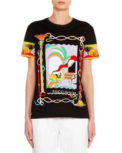 Short-Sleeve Sunrise Graphic T-Shirt