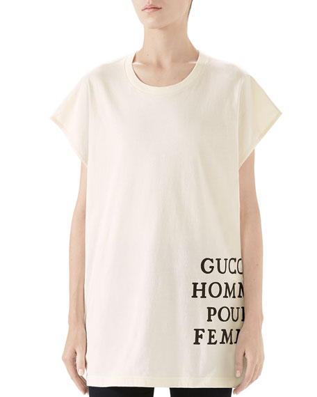 Gucci Homme Pour Femme T-shirt In Brown/black