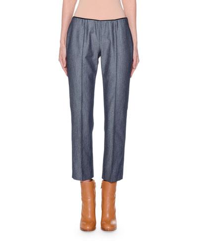 Slim-Leg Side-Zip Jeans