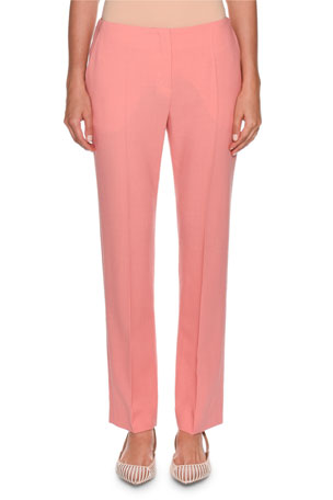 Giorgio Armani Slim-Leg Stretch Wool Pants, Pink