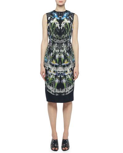 Ophelia Printed Sleeveless Sheath Dress