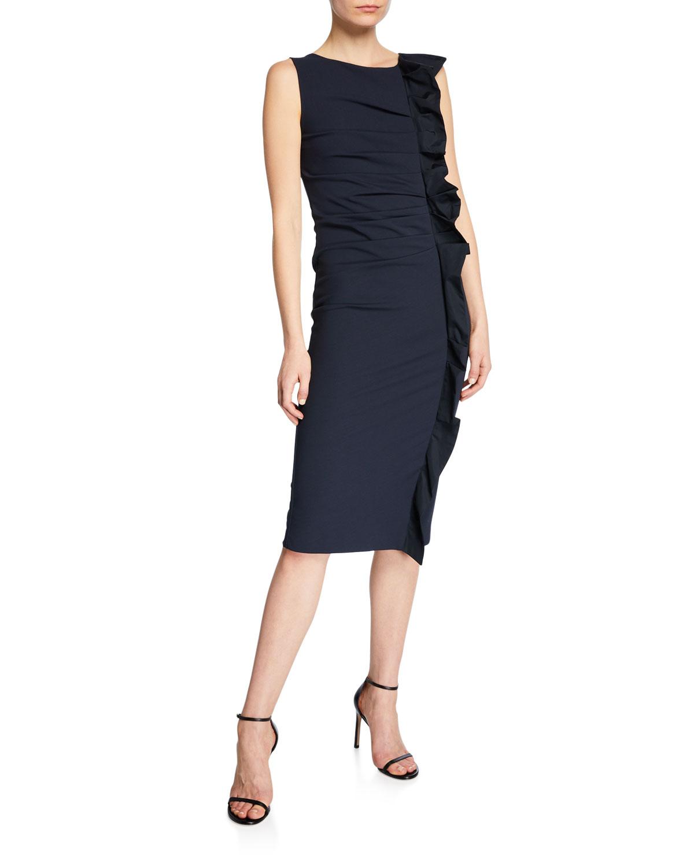 Cleo Ruffled Jersey Dress by Maxmara
