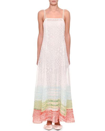 Double Cami New Lace Stitch Dress