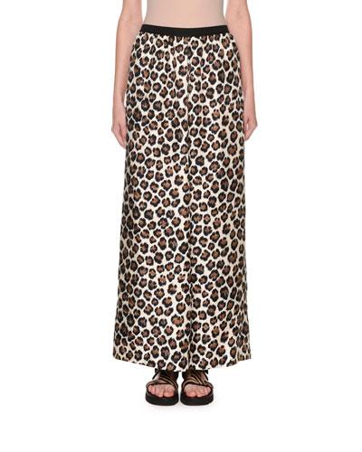 Leopard-Print Full-Leg Pants