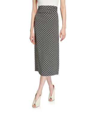 6cfb41775c2a Dries Van Noten Geometric Print Ruched-Jersey High-Rise Skirt