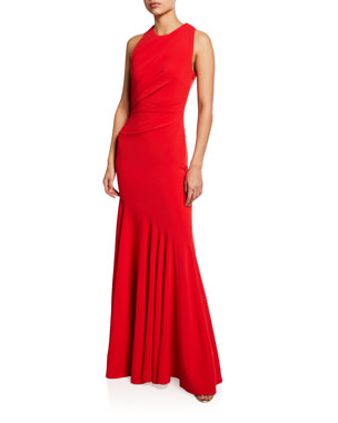 b79c3dc6b2f Talbot Runhof Sorbets Cutout Stretch-Crepe Halter Gown. Favorite. Quick Look