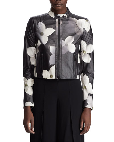 Eaton Floral Leather Jacket