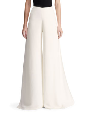 87350bd19ee Ralph Lauren Collection Adele Sculptural Cady Palazzo Pants