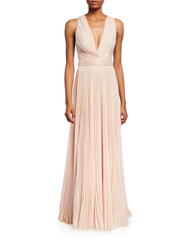Marylin Plisse Sleeveless Gown