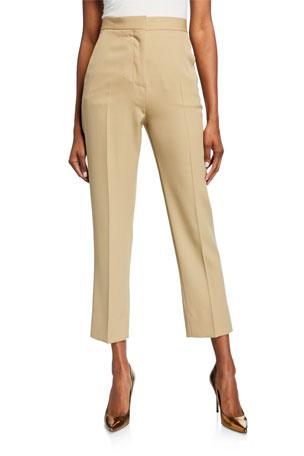 Burberry Cigarette Zip-Front Pants