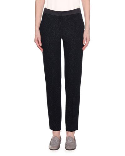 Lurex® Double Face Wool Pants