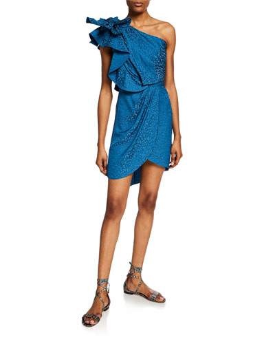 Opponent Interpretation Jacquard One-Shoulder Dress