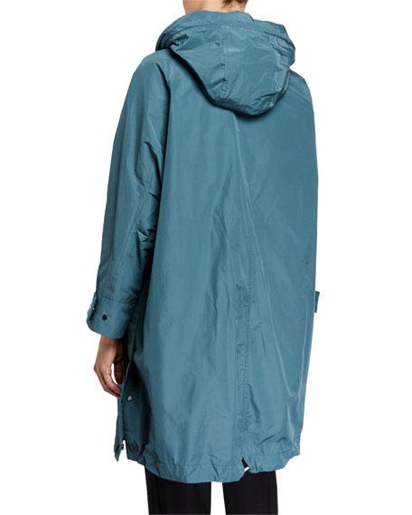 Brunello Cucinelli Zip-Front Hooded Taffeta Anorak