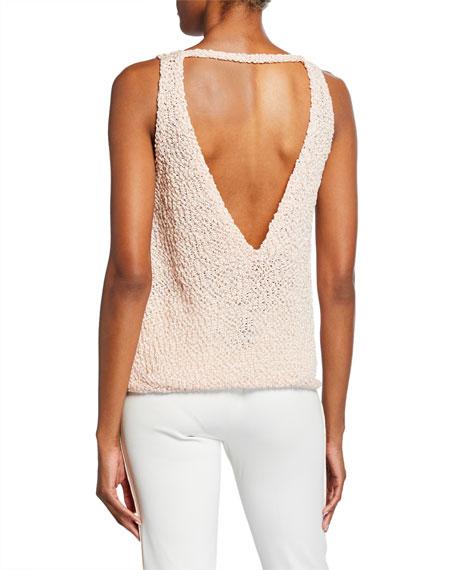 Emporio Armani Embellished Knit Shell
