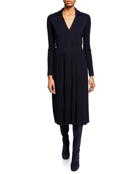 Loro Piana Dresses LONG PLEATED KNIT DRESS