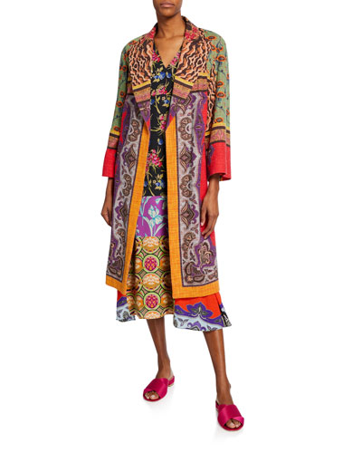 Wrapped Collage Patchwork Coat