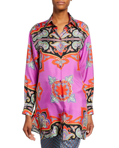 Paisley Colorblocked Tunic
