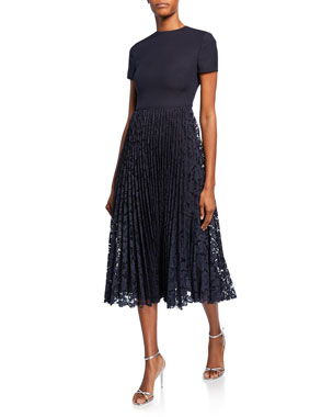 3b10f1ca0e8 Valentino Short-Sleeve Crepe Couture Cocktail Dress