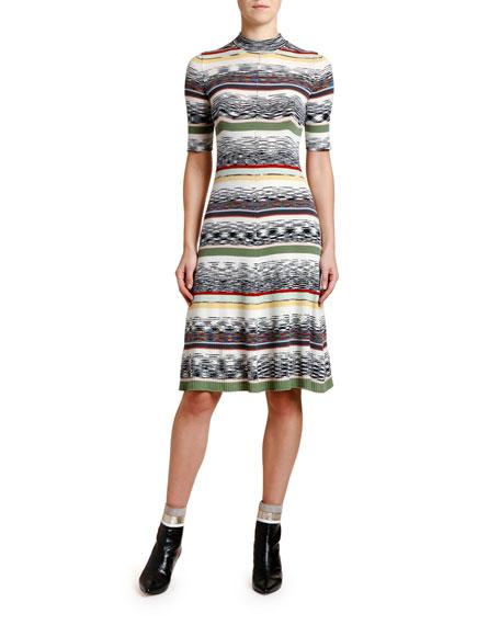 Missoni Dresses 1/2-SLEEVE MOCK-NECK KNIT DRESS