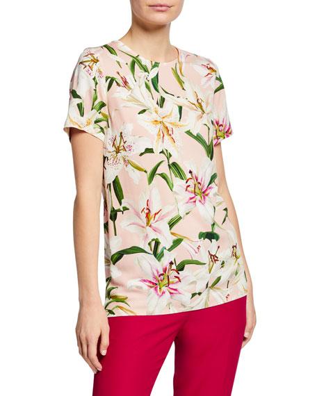Dolce & Gabbana Lily Short-Sleeve Cady Shirt