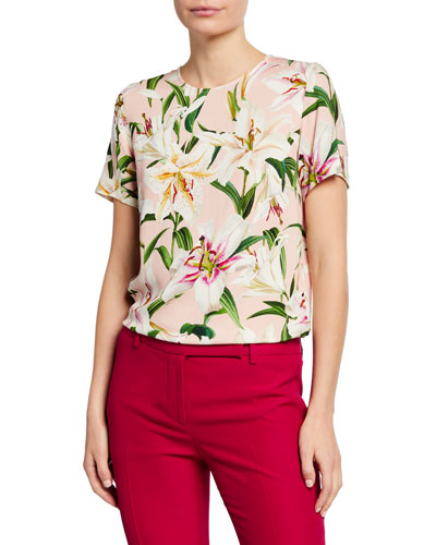 Lily Short-Sleeve Cady Shirt