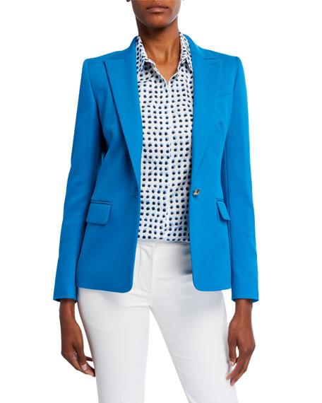 Escada Cotton-Blend One-Button Twill Jacket