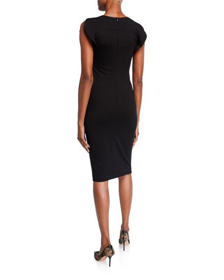 Escada Ruffled-Sleeve Jersey Dress