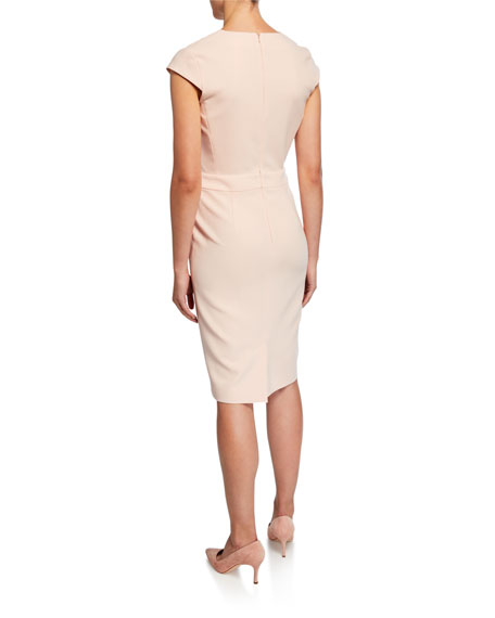 Maxmara Bill Cap-Sleeve Belted Dress