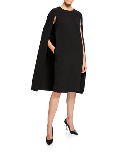 Sansone Cape-Back Dress