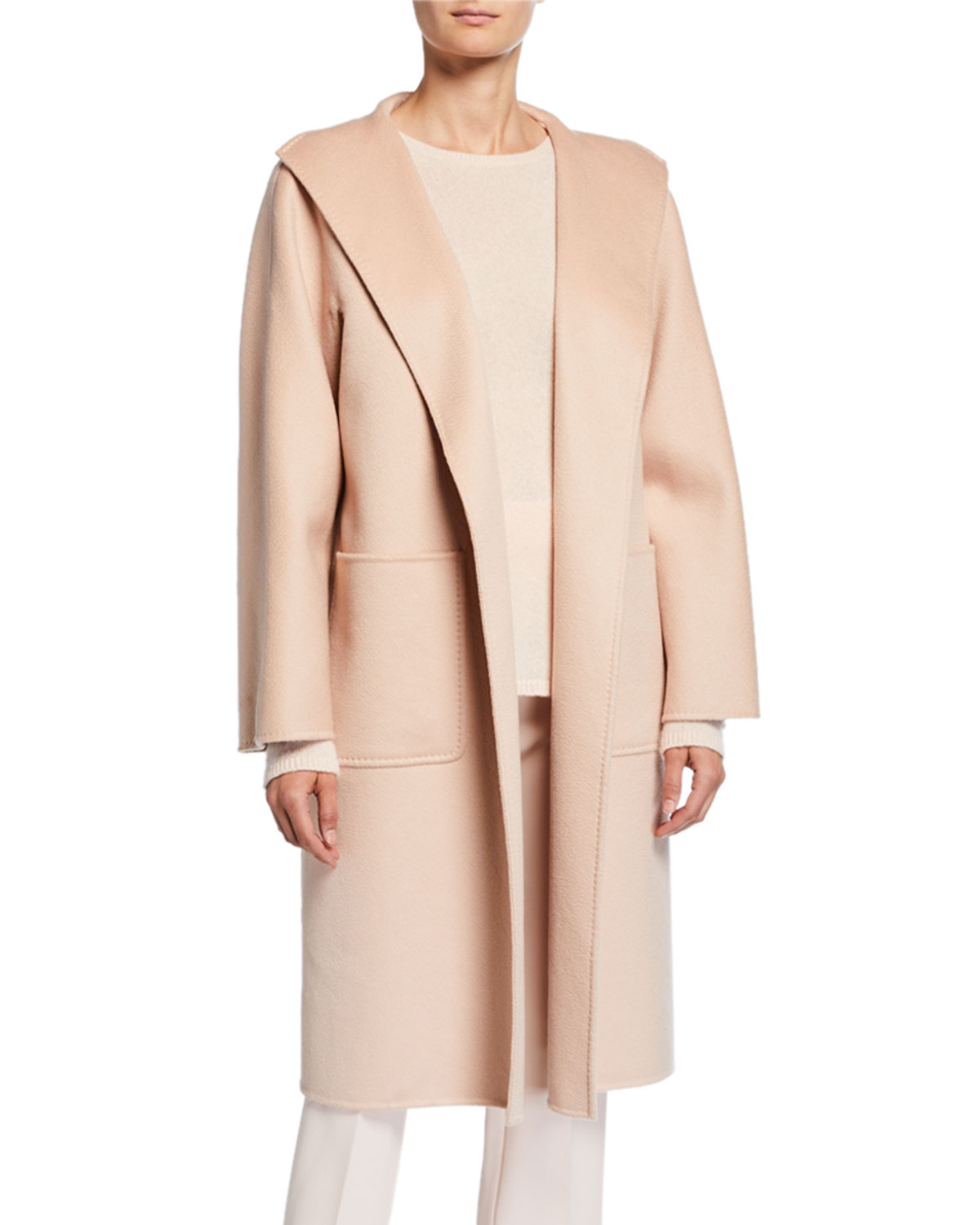 Lilia Cashmere Open Front Coat by Maxmara