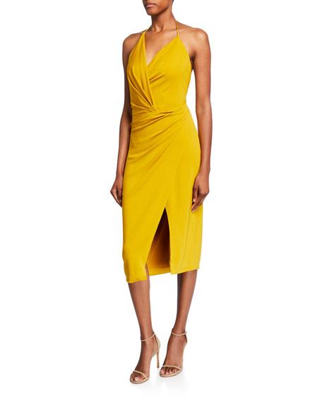 CUSHNIE Halter-Neck Jersey Dress