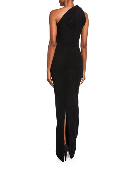 Brandon Maxwell Knotted One-Shoulder Gown