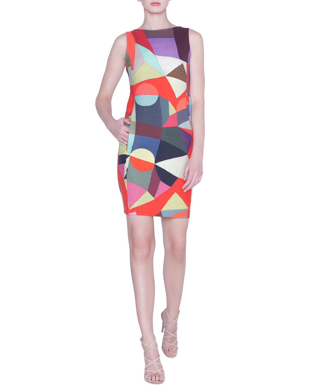 09dfbe37d6 Akris Indian Summer Wool Sheath Dress