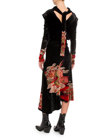 Paco Rabanne Chinoise Velvet Jacquard Dress