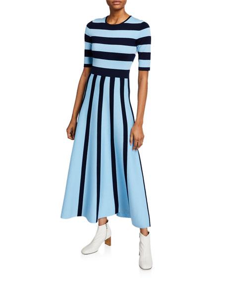 Gabriela Hearst Capote Striped Wool-Cashmere Dress