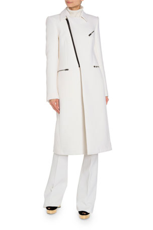 TOM FORD Leather Trim Military Coat