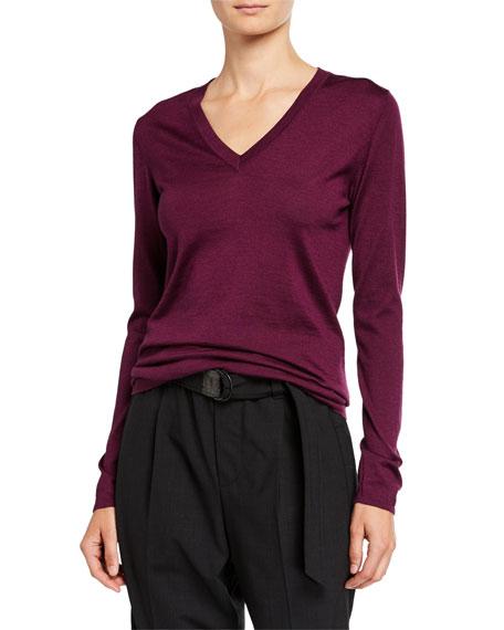 Brunello Cucinelli Cashmere-Silk V-Neck Sweater