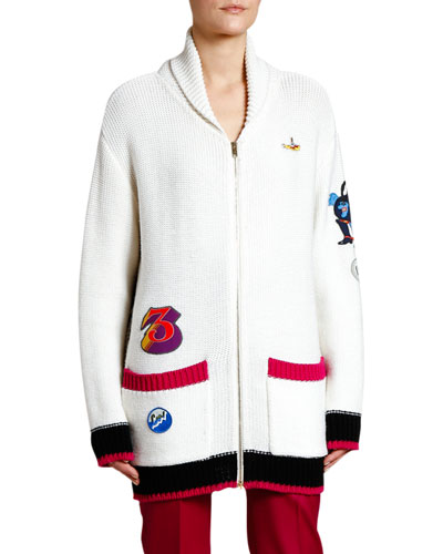Beatles Zip-Front Cardigan