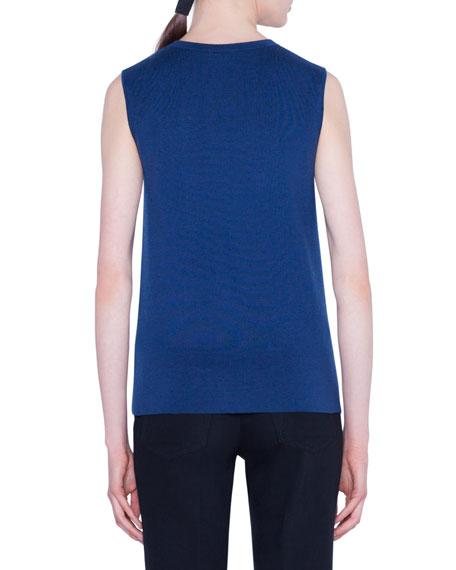 Akris Reversible Jewel-Neck Tank Sweater