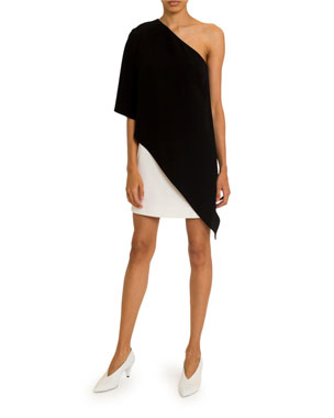 51eade29 Givenchy Two-Tone One-Shoulder Cocktail Dress