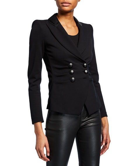 Milano Jersey Faux Double-Breasted Jacket