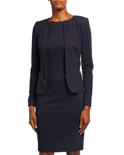 Zen Dotted Jersey Ruched-Back Jacket
