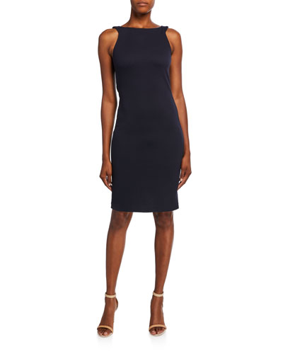 Zen Dotted Jersey Sleeveless Dress