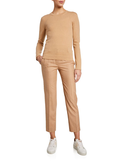Agnona Flannel Tapered Classic Wool Pants