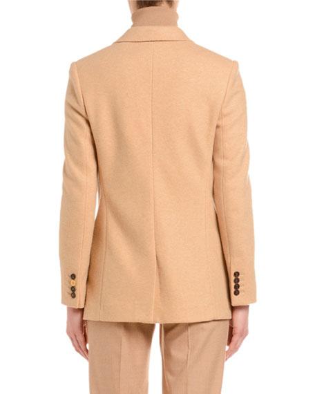 Agnona Double-Breasted Jersey Blazer