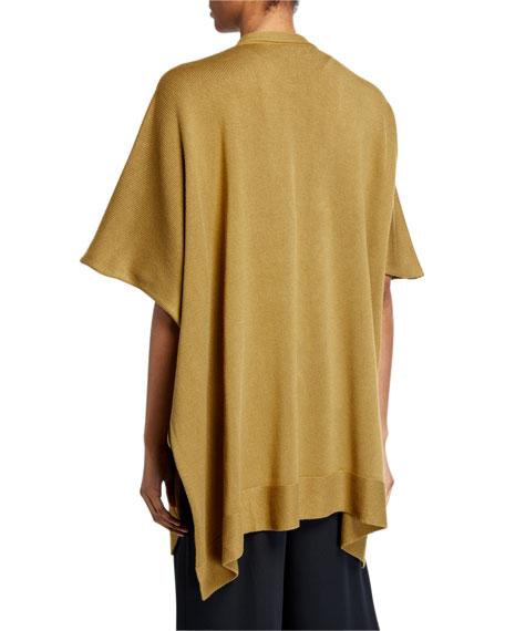Eskandar Silk Wide Tabard Cardigan