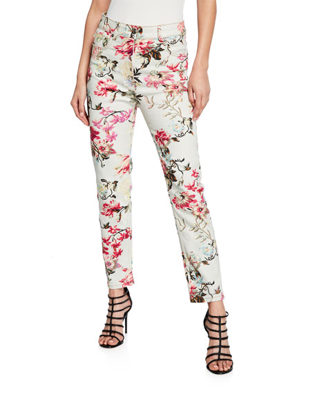 Etro English Floral Print Jeans