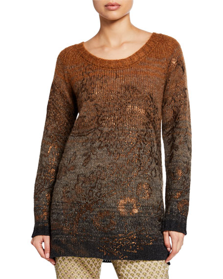Etro Ombre Golden Stamped Tunic