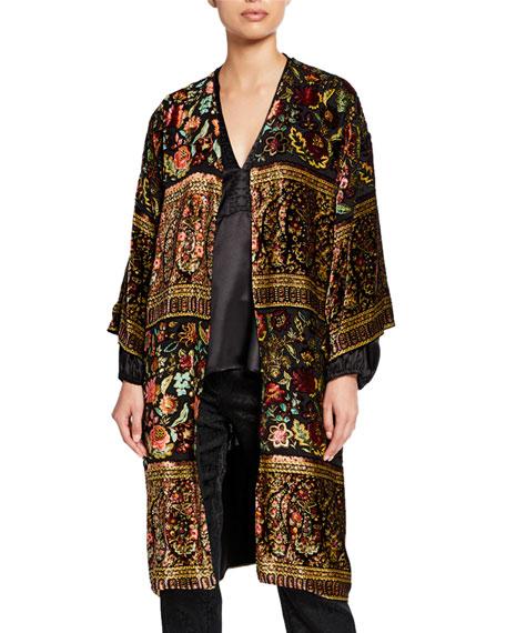 Etro Tapestry Devore Panne Kesa  Jacket